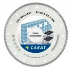 Алмазный диск  Ø350 CARAT Turbo Brilliant для керамогранита/мрамора CDC3504000